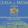 Escuela de Música: Matriculación 2015/16