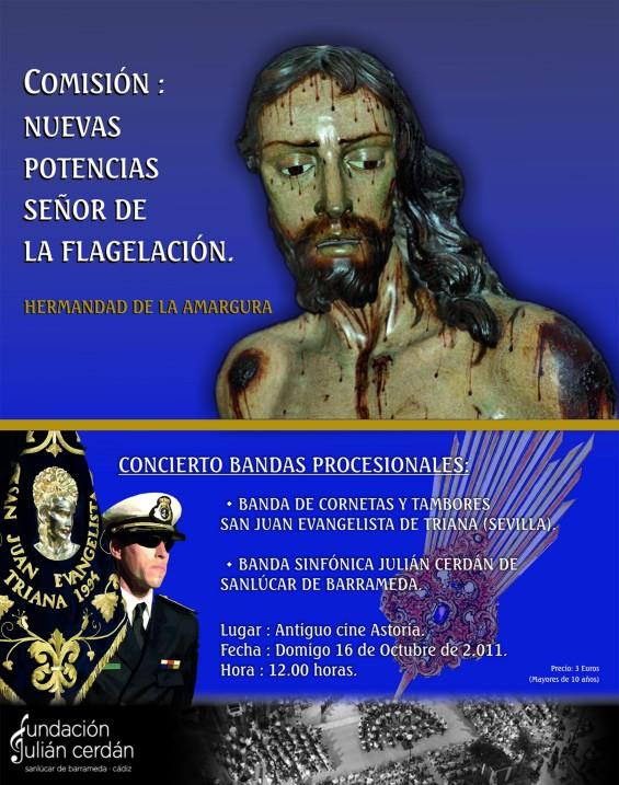 Cartel del concierto de marchas de la Hermandad de la Amargura de Jerez