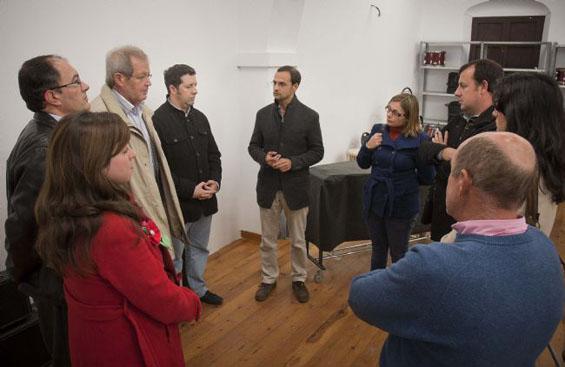 Visita del Gobierno local a la Fundación Julián Cerdán