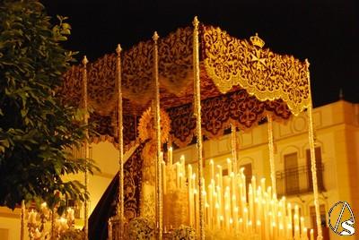 Salida procesional de La Encarnación de Sanlúcar La Mayor (Sevilla)