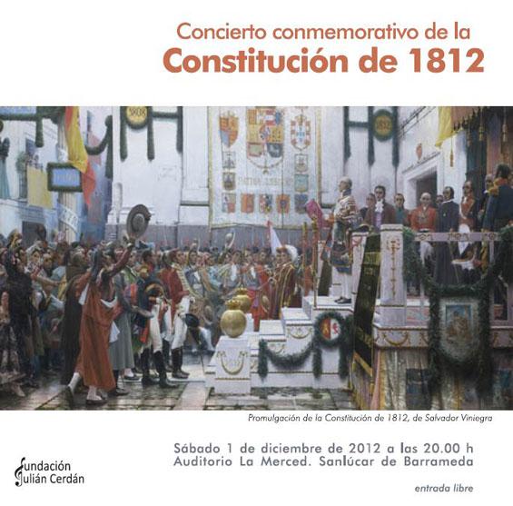 Cartel del concierto con motivo de la Constitución de 1812