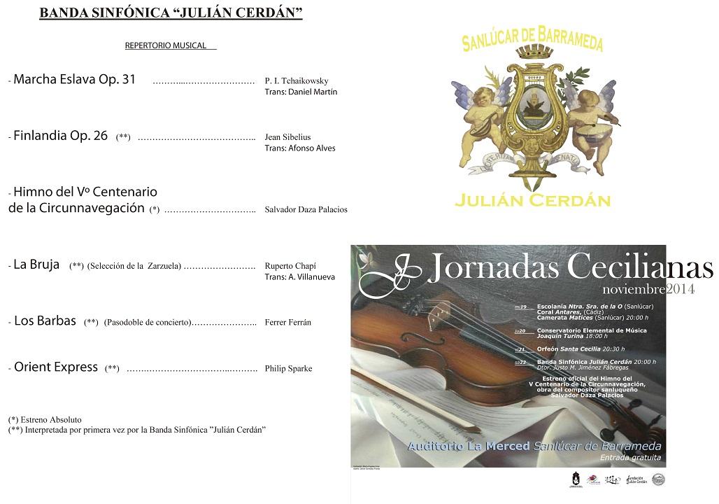 Programa de manos Santa Cecilia 2014 modificado